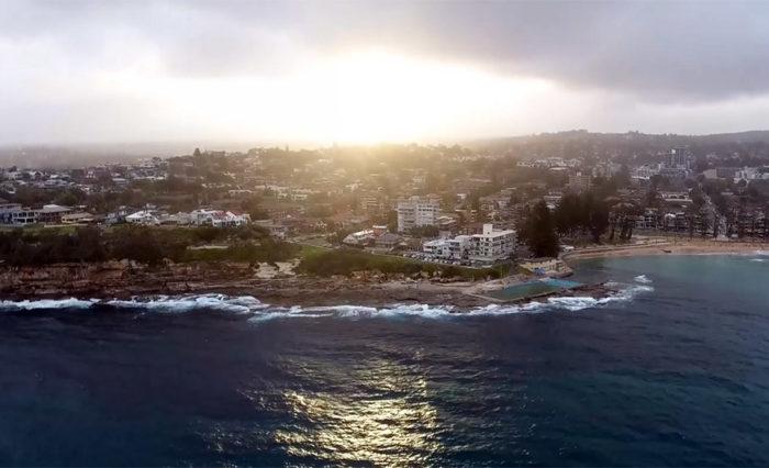 Dee Why Ausztrália - drónfelvétel
